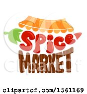 Clipart Of A Spice Market Design Royalty Free Vector Illustration
