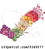 Clipart Of A Check Mark Formed Of Colorful Fruit Royalty Free Vector Illustration