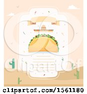 Clipart Of A Blank Taco Menu Royalty Free Vector Illustration by BNP Design Studio