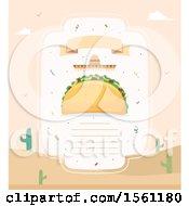 Clipart Of A Blank Taco Menu Royalty Free Vector Illustration