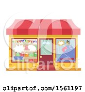 Clipart Of A Comic Book Store Front Royalty Free Vector Illustration by BNP Design Studio