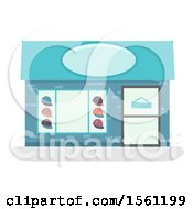 Clipart Of A Hat Store Front Royalty Free Vector Illustration by BNP Design Studio
