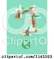 Clipart Of A Question Mark Formed Of Urban Architecture Royalty Free Vector Illustration by BNP Design Studio