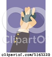 Clipart Of A Stressed Business Mans Hand Squeezing A Stress Ball Royalty Free Vector Illustration