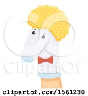 Clipart Of A Hand With A Sock Puppet Royalty Free Vector Illustration by BNP Design Studio