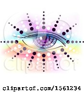 Clipart Of A Magical Third Eye With Dots And Colors Royalty Free Vector Illustration