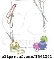 Border Of Knitting Tools