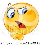 Poster, Art Print Of Yellow Emoji Smiley Rebuking