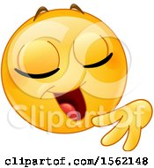 Clipart Of A Yellow Emoji Smiley With A Confident Expression Royalty Free Vector Illustration