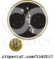 Clipart Of A Star Constellation And Taurus Zodiac Symbol Royalty Free Vector Illustration