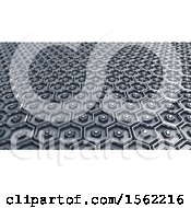 3d Metal Hexagonal Background