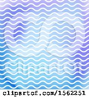 Clipart Of A Wavy Pattern Background Royalty Free Vector Illustration