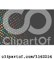 Colorful Diamond Pattern Design On Gray
