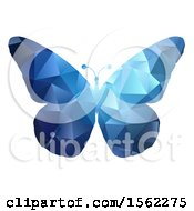 Poster, Art Print Of Blue Geometric Butterfly