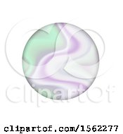 Clipart Of A Holographic Circle On A White Background Royalty Free Vector Illustration