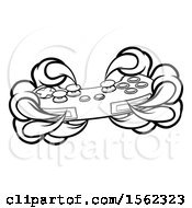 Poster, Art Print Of Black And White Monster Claws Playing With A Video Game Controller