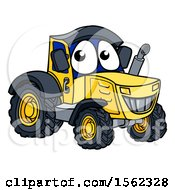 Cartoon Happy Tractor Character Mascot