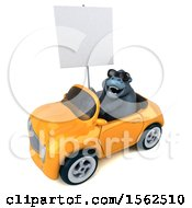 Clipart Of A 3d Gorilla Mascot Driving A Convertible On A White Background Royalty Free Illustration by Julos