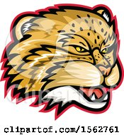 Clipart Of A Manul Pallas Cat Mascot Head Royalty Free Vector Illustration
