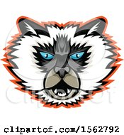 Himalayan Cat Mascot Head