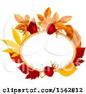 Clipart Of A Seasonal Fall Autumn Design With Leaves Royalty Free Vector Illustration