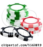 Clipart Of A Stack Of Poker Chips Royalty Free Vector Illustration