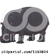 Clipart Of A Hippopotamus Royalty Free Vector Illustration by Vector Tradition SM