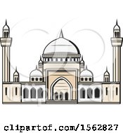 Clipart Of A Muslim Mosque Royalty Free Vector Illustration by Vector Tradition SM