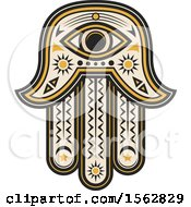 Clipart Of A Hamsa Hand Design Royalty Free Vector Illustration