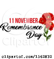 Clipart Of A Red Poppy Flower Remembrance Day Design Royalty Free Vector Illustration