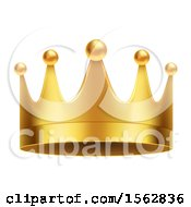 Clipart Of A Golden Crown Royalty Free Vector Illustration