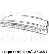 Lineart Mouth Organ Harmonica