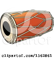 Clipart Of A Sri Lankan Drum Instrument Royalty Free Vector Illustration