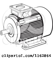Black And White Electric Motor