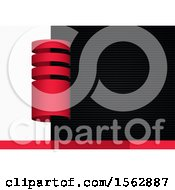 Red Black And White Abstract Background