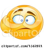 Clipart Of A Yellow Emoji With A Dismayed Expression Royalty Free Vector Illustration