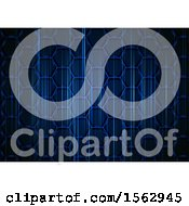 Clipart Of A Blue Honeycomb Abstract Background Royalty Free Vector Illustration