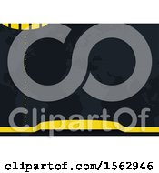 Black And Yellow Abstract Map Background