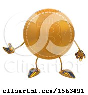 Clipart Of A Bitcoin Mascot Presenting On A White Background Royalty Free Illustration by Julos