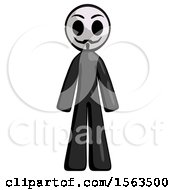 Black Little Anarchist Hacker Man Standing Facing Forward