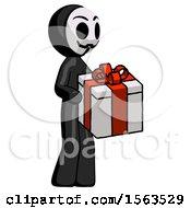 Black Little Anarchist Hacker Man Giving A Present