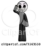 Black Little Anarchist Hacker Man Soldier Salute Pose