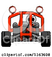 Black Little Anarchist Hacker Man Riding Sports Buggy Front View