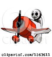 Black Little Anarchist Hacker Man Flying In Geebee Stunt Plane Viewed From Below