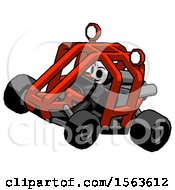 Black Little Anarchist Hacker Man Riding Sports Buggy Side Top Angle View