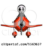 Black Little Anarchist Hacker Man In Geebee Stunt Plane Front View