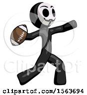 Black Little Anarchist Hacker Man Throwing Football