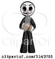 Black Little Anarchist Hacker Man Giving Football To You