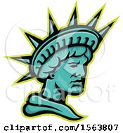 Clipart Of A Statue Of Liberty Mascot Royalty Free Vector Illustration