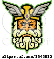Clipart Of A Mascot Of Odin Royalty Free Vector Illustration by patrimonio